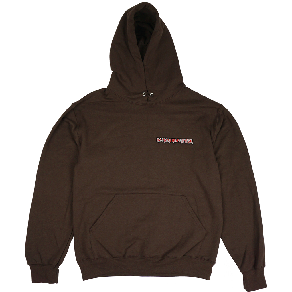 "BROWN ""No More Heavy Metal"" HOODIE"
