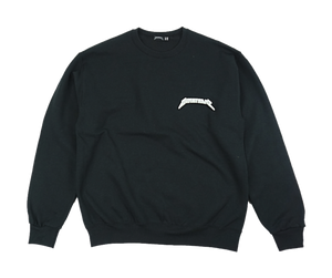 BLACK LOGO CREWNECK