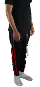 BLACK/RED TRACK PANTS