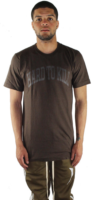 BROWN 'HARD TO KILL' T SHIRT