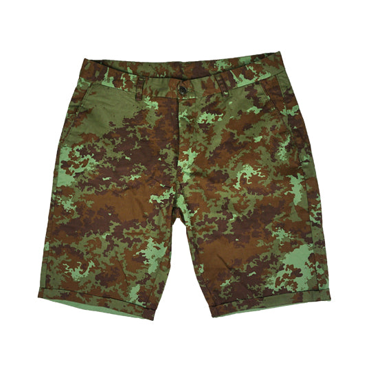 GREEN CAMO CHINO SHORT