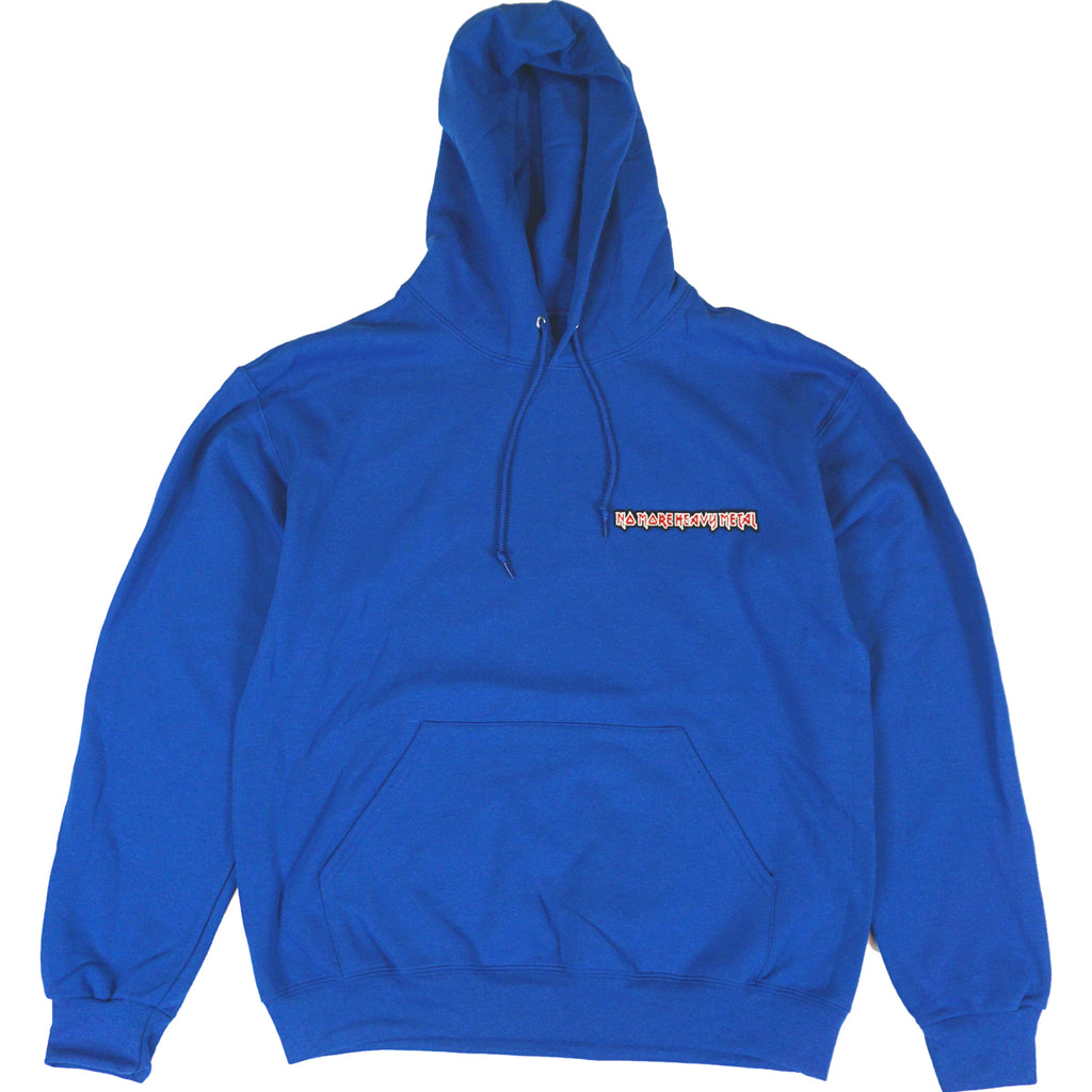 "BLUE ""No More Heavy Metal"" HOODIE"