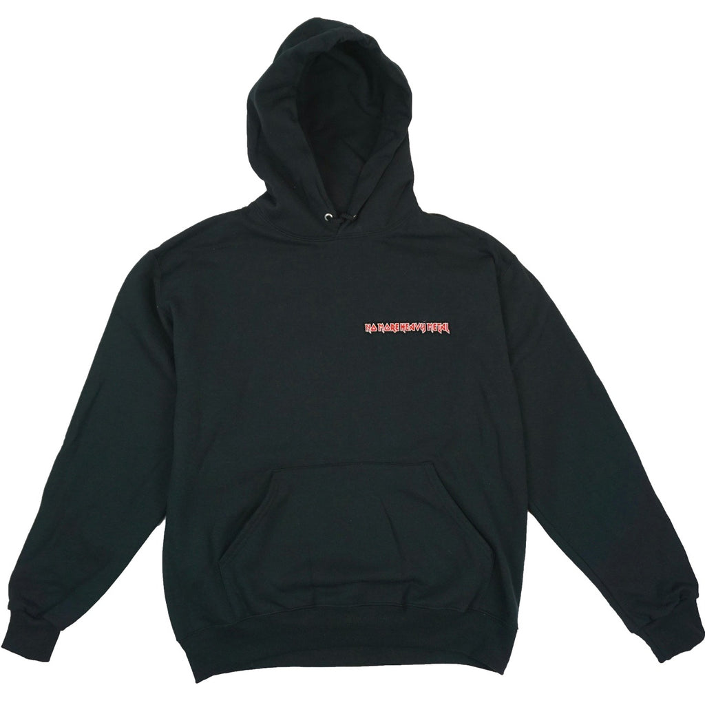 "BLACK ""No More Heavy Metal"" HOODIE"