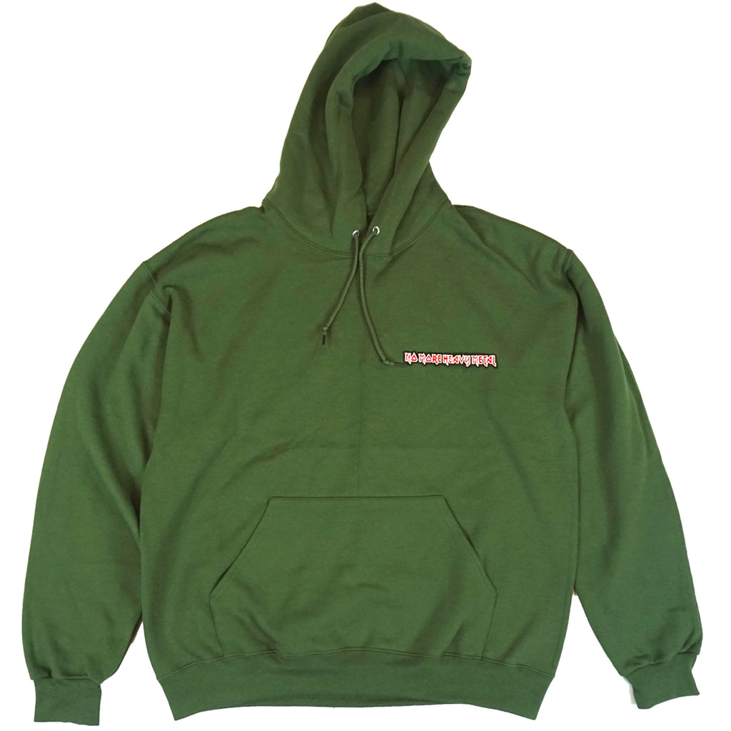 "OLIVE GREEN ""No More Heavy Metal"" HOODIE"