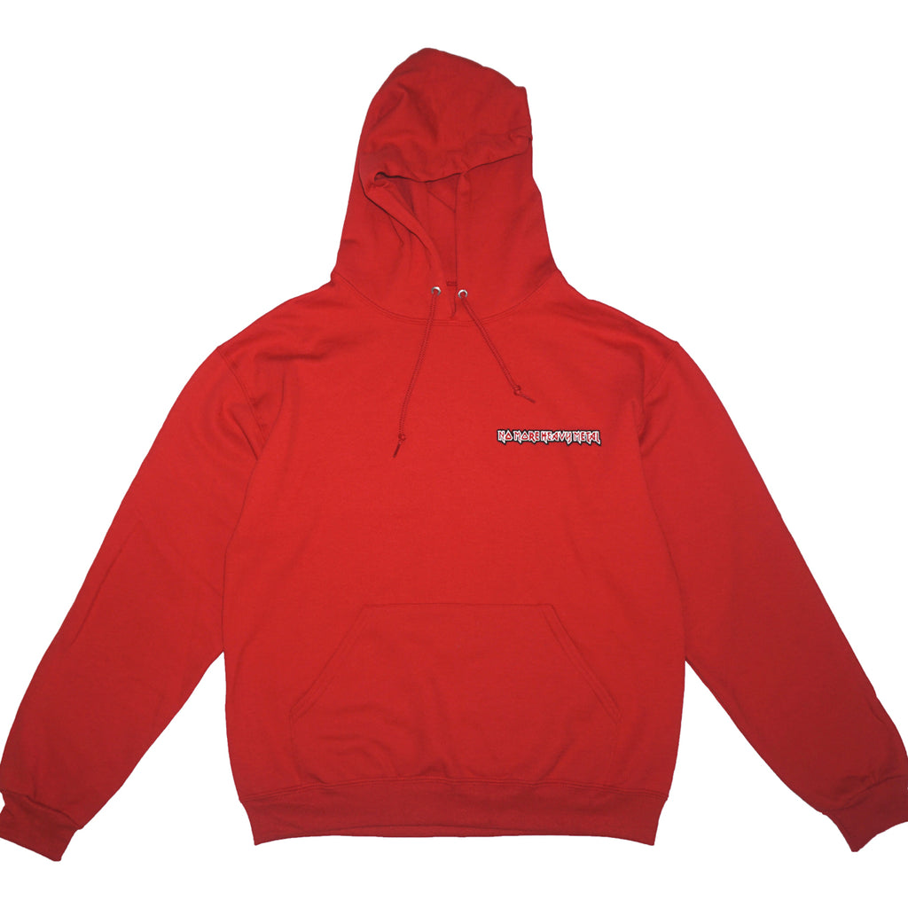 "RED ""No More Heavy Metal"" HOODIE"