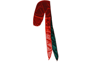 TWO TONE GREEN/RED SILKY DURAG