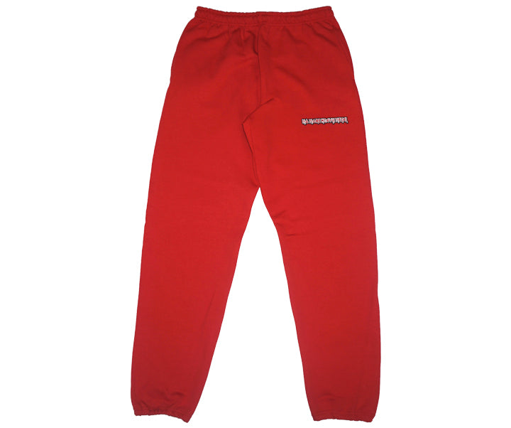 "RED ""No More Heavy Metal"" SWEATPANTS"