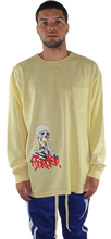 YELLOW 'PATIENCE' LONG SLEEVE T SHIRT