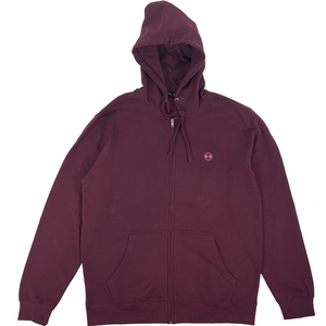 PLUM SMALL CIRCLE ZIP HOODIE