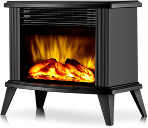 Metal Electric Fireplace