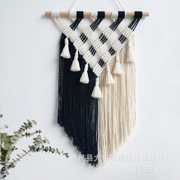 Hand-woven Tapestry Fringed Macrame