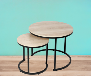 Coffee Nesting Side Table - End Tables - Round Nesting Coffee Side Table