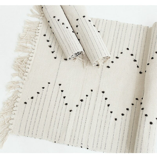 Cotton Thread Rug Modern & Simple Design