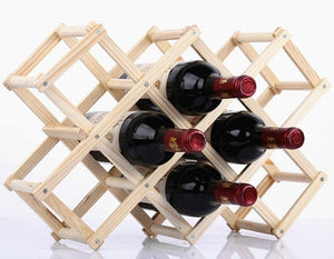 Wine Rack -  Wood Taste ™ Wine Holder Shelf & Organizer For Tables