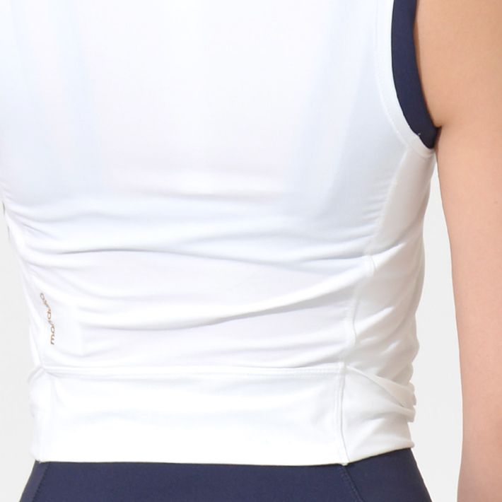 Manduka Pro Top Tech Tank Twist Front - White