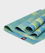 Manduka eKO Superlite Travel Yoga Mat 71'' 1.5mm - Digi Lime Marbled