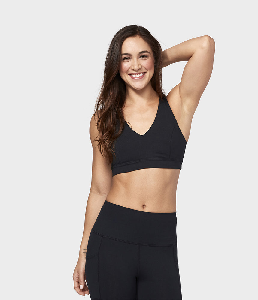 Manduka Women's Mudra Yoga Sports Bra - Black