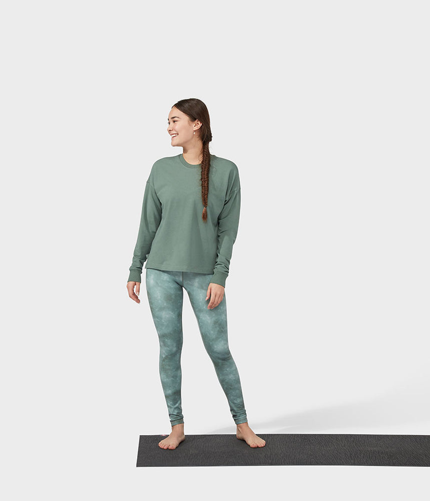 Manduka Performance Sweatshirt Long Sleeve - Laurel Wreath