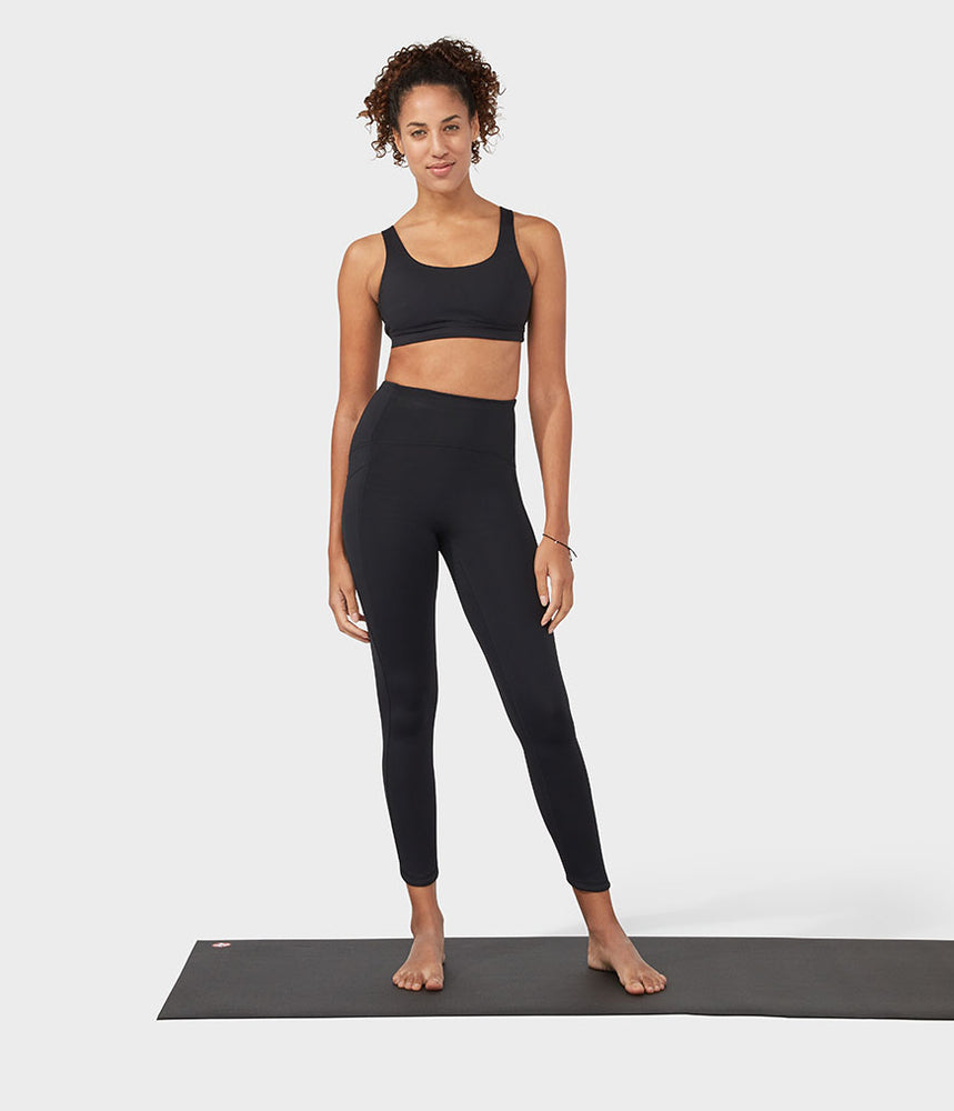 Manduka Pro Legging High Rise 7/8 With Pocket - Black