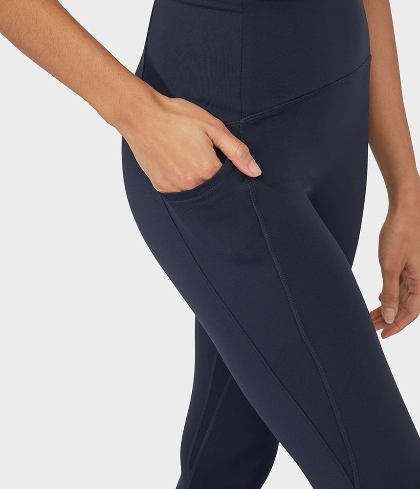 Manduka Pro Legging High Rise 7/8 With Pocket - Dark Sapphire