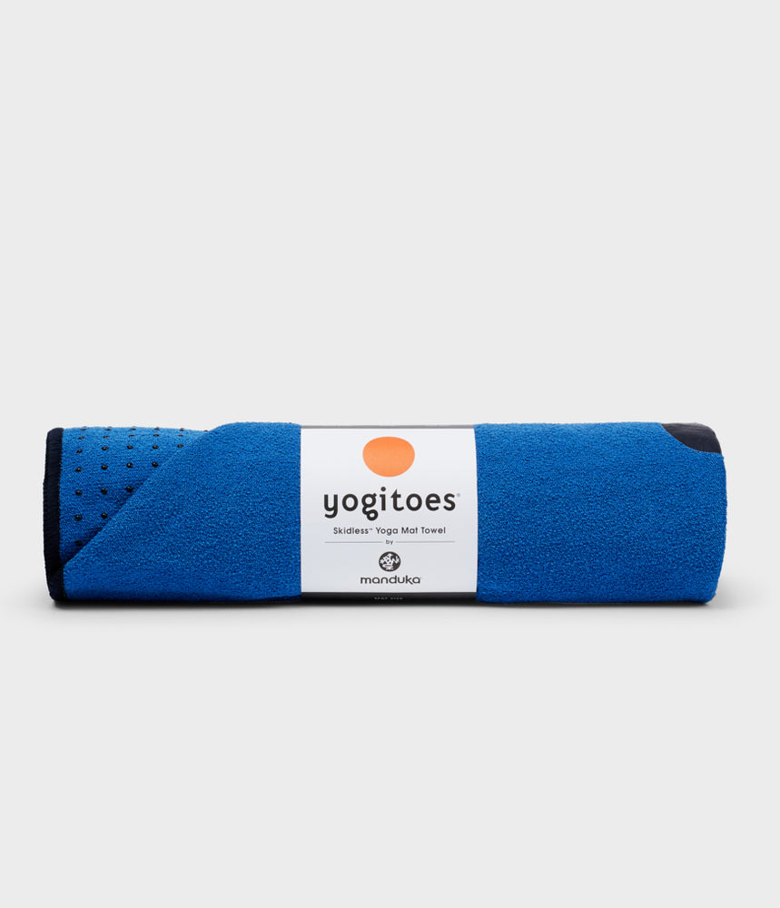 Manduka Yogitoes Skidless Yoga Mat Towel - Be Bold Blue 2.0