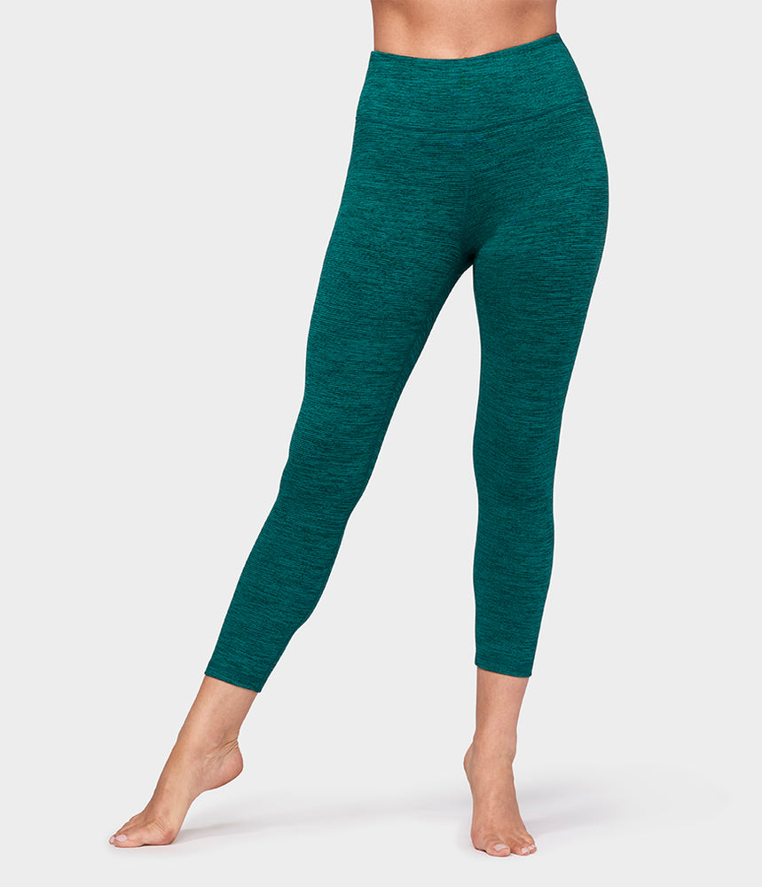 Essential Cropped Legging - Heather Emerald