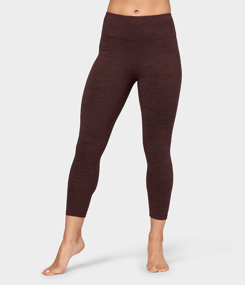 Essential Cropped Legging - Heather Fig