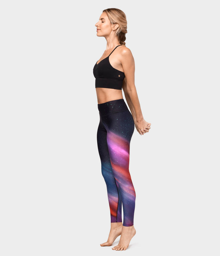 Engineered Print Legging - Aurora