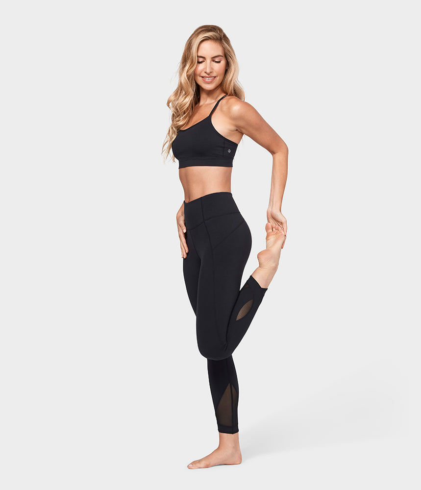 Manduka Women's Solite Mesh Ankle Legging - Black