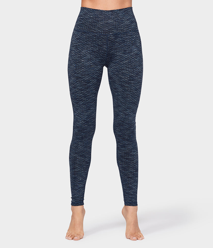 Essential High Line Legging - Indigo Jacquard