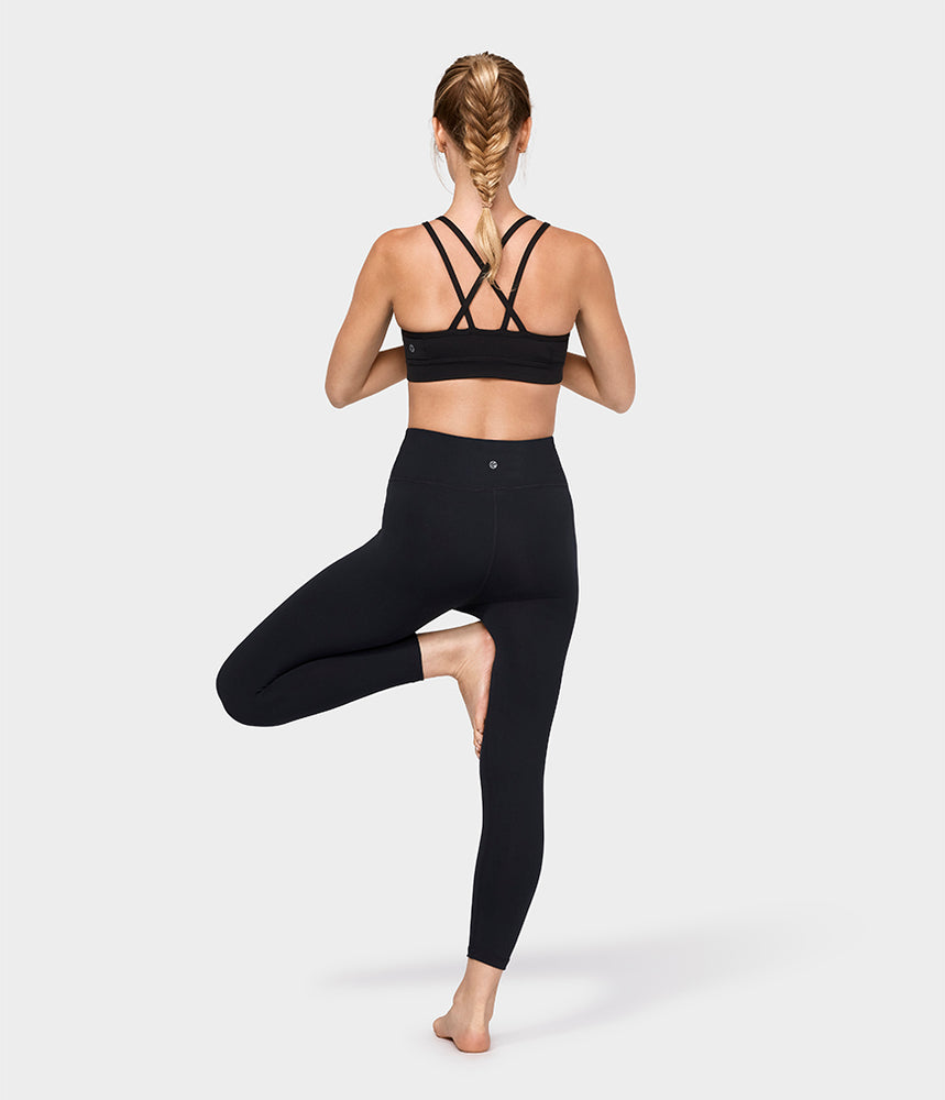 Manduka Cross Strap Bra - Black