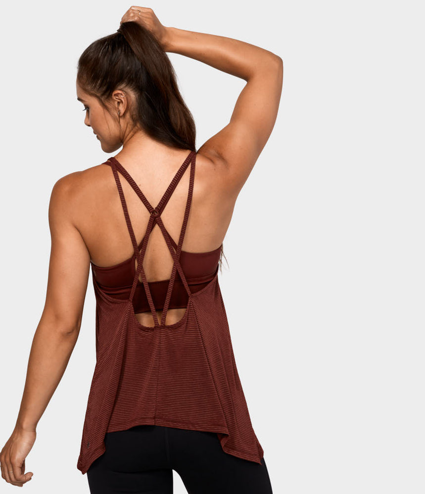 Breeze Drape Tank - Ruby Sheen