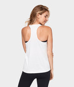 Breeze Racerback Tank - White