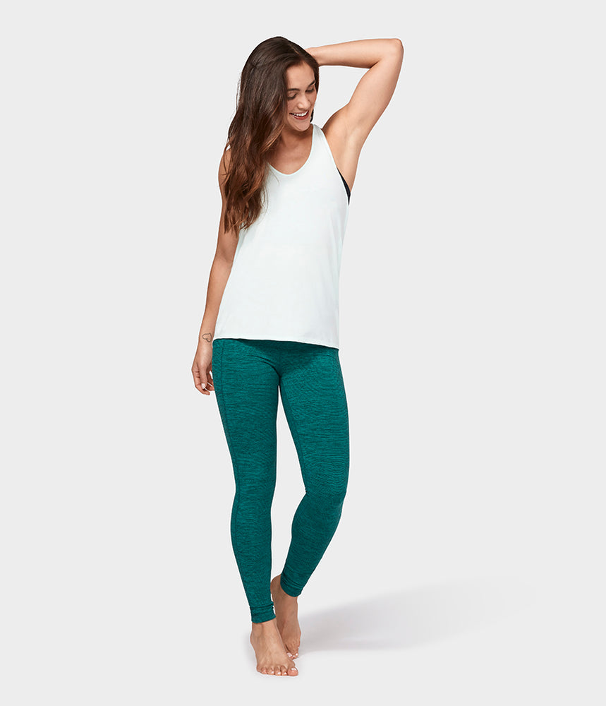 Manduka Adorn Twist Back Tank - Mint