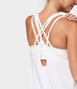Manduka Adorn Twist Back Tank - White