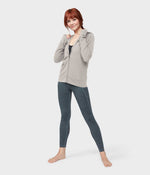 Manduka Resolution Zipped Hoodie-Sand