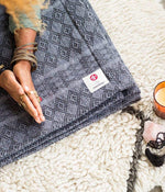 Manduka Cotton Blanket - Thunder ( Pre-Order/Restock 7 JUNE 2021 )