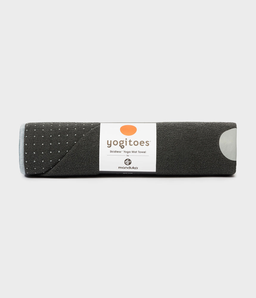 Manduka Yogitoes Skidless Yoga Mat Towel - Grey 2.0
