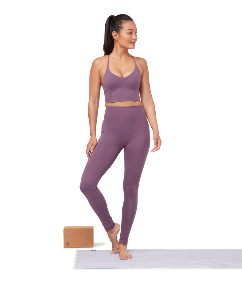 Manduka Performance Legging High Rise with/Media Pocket - Amethyst Violet