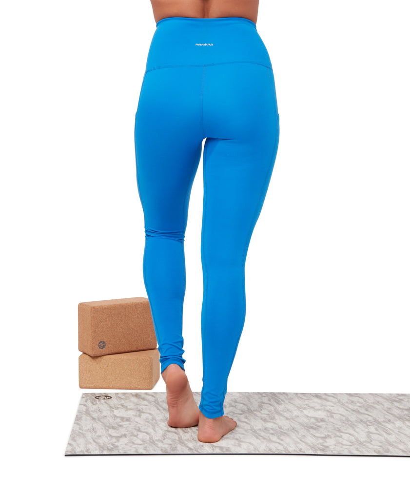 Manduka Performance Legging High Rise with/Pocket - Be Bold Blue
