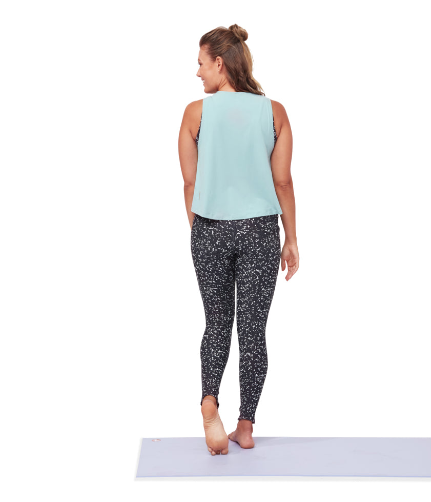 Manduka Pro Top Tech Tank High Low - Tropic Surf