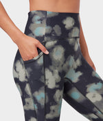 Manduka Pro Legging High Rise 7/8 With Pocket - SWASH FLORAL GREENS