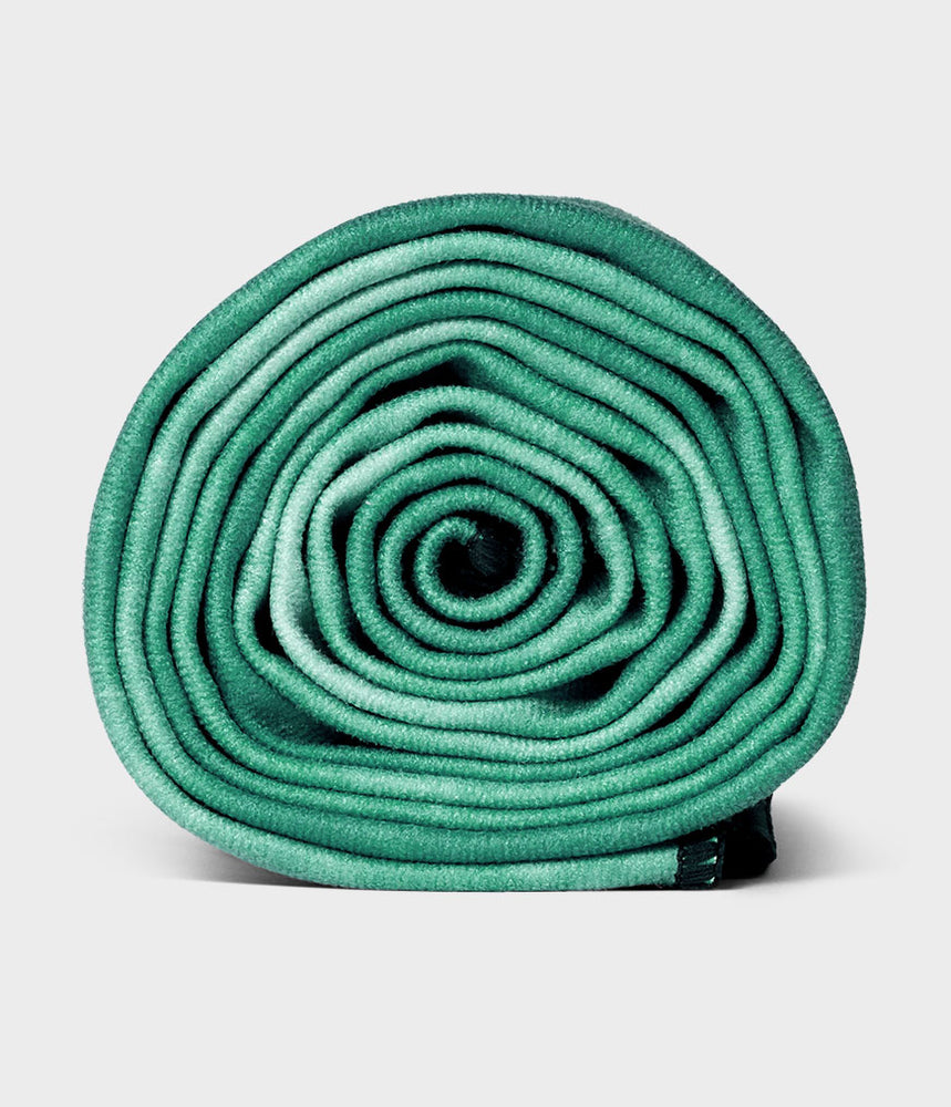 Manduka Equa® Non-slip Quick Dry Absorbent Yoga Towel for Yoga, Gym, Pilates, Outdoor Fitness - Camo Green TD