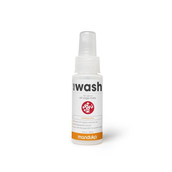 Manduka Mat Wash - Citrus - All Purpose Mats - 2 OZ - Travel Spray