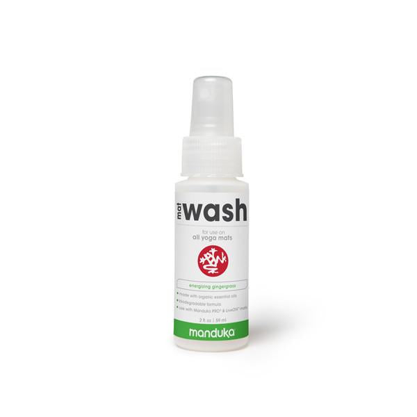 Manduka Mat Wash - Gingergrass - All Purpose Mats - 2 OZ - Travel Spray