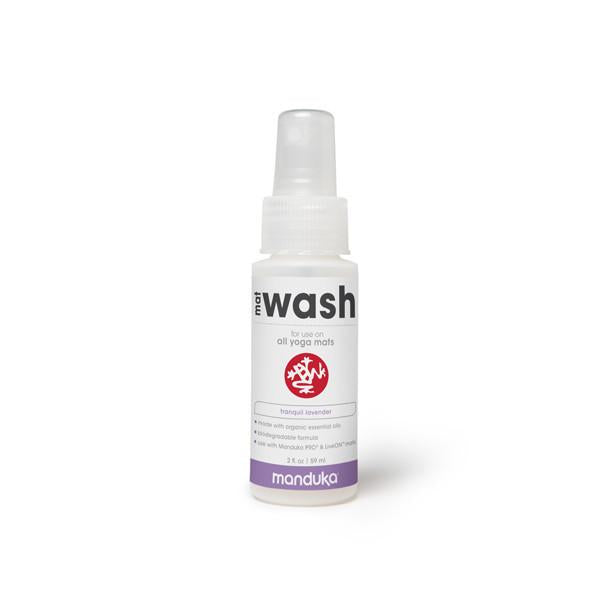 Manduka Mat Wash - Lavender - All Purpose Mats - 2 OZ - Travel Spray *