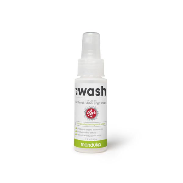 Manduka Mat Wash - Lemongrass - Natural Rubber Mats - 2 OZ - Travel Spray