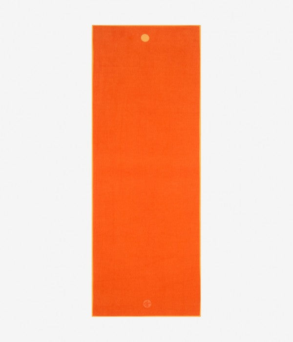 "Manduka Yogitoes Skidless Yoga Standard Mat Towel 26.5""x 72""- Chakra Orange"