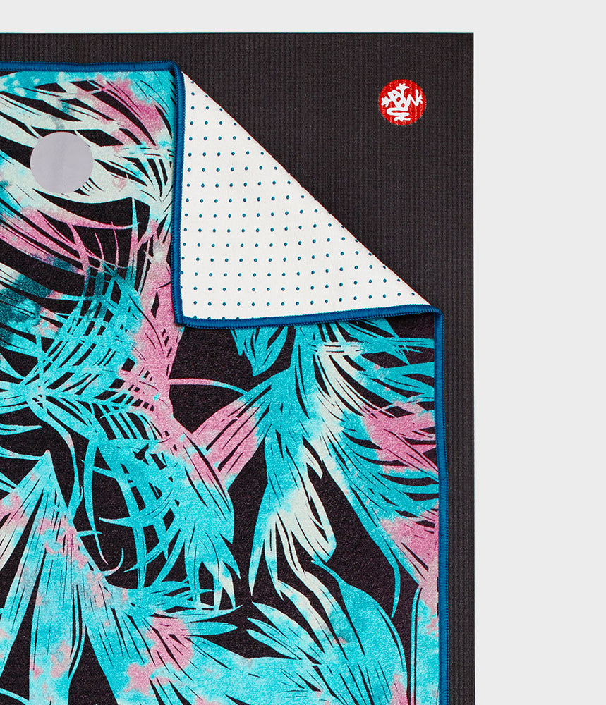 Manduka Yogitoes Towel - Tropic Black 2.0