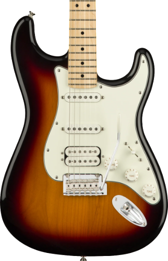FENDER PLAYER SERIES STRAT - HSS MAPLE NECK 3 COLOUR SUNBURST